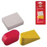 Резинки стирательные KOH-I-NOOR, набор 3 штуки, цвет и форма ассорти, блистер, 6222003001BL