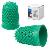 Напальчник для бумаги резиновый, диаметр 17 мм, высота 28 мм, ALCO (Германия) 765, зеленый, 811524