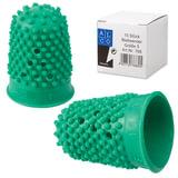 Напальчник для бумаги резиновый, диаметр 22 мм, высота 33 мм, ALCO (Германия) 768, зеленый, 811527