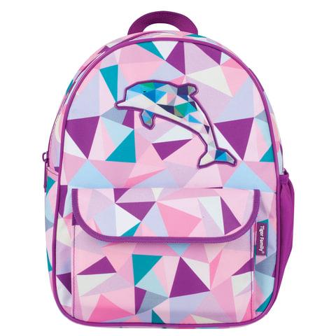 """Рюкзак для дошкольников TIGER FAMILY (ТАЙГЕР) """"Дельфин"""", 4 л, 29х24х10 см, 1754B"""