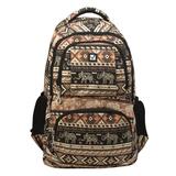 """Рюкзак BRAUBERG для старшеклассников/студентов/молодежи, узоры, """"Слоны"""", 27 литров, 47х32х14 см, 226354"""