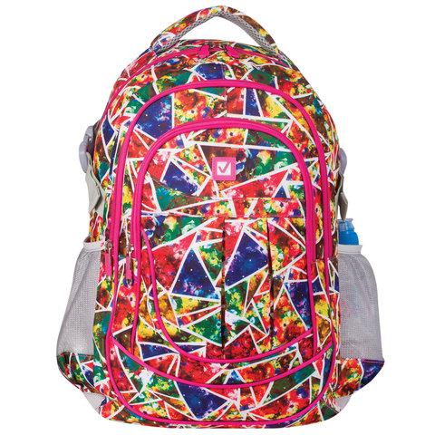 """Рюкзак BRAUBERG для старшеклассников/студентов/молодежи, узоры, """"Абстракция"""", 26 литров, 45х31х12 см, 226356"""