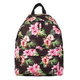 """Рюкзак BRAUBERG универсальный, сити-формат, черный, """"Цветы"""", 20 литров, 41х32х14 см, 226411"""