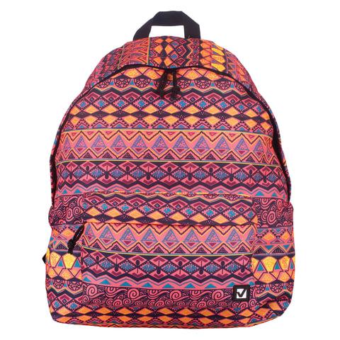 Рюкзак BRAUBERG универсальный, сити-формат, оранжевый,