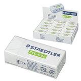 Резинка стирательная STAEDTLER (Германия), 43х19х13 мм, белая, картонный держатель, дисплей, 525 B30
