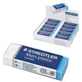 """Резинка стирательная STAEDTLER ПРЕМИУМ (Германия)""""Mars plastic combi"""", 65x23x13 мм, синяя/белая, картонный держатель, 526508"""