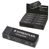 """Резинка стирательная STAEDTLER (Германия) """"Rasoplast"""", 65x23x13 мм, черная, картонный держатель, дисплей, 526 B20-9"""
