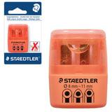 Точилка STAEDTLER (Германия), 2 отверстия, контейнер и крышечка, пластиковая, оранжевая, 51260F-4BK