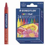 """Восковые мелки STAEDTLER (Германия) """"Noris Club"""", 24 цвета, картонная упаковка, европодвес, 220 NC24"""