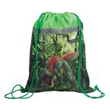 """Сумка для обуви BRAUBERG для учеников начальной школы, плотная, """"Динозавр"""", зеленая, 45х35 см, 226513"""
