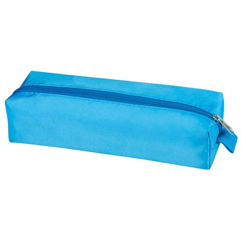 "Пенал-косметичка BRAUBERG, полиэстер, ""Радуга"", голубой, 20х6х4 см, 226710"
