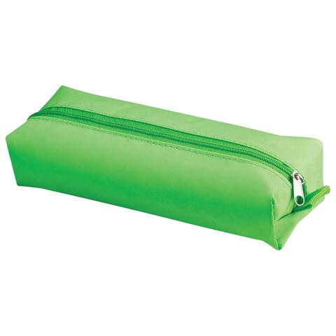 "Пенал-косметичка BRAUBERG, полиэстер, ""Радуга"", зеленый, 20х6х4 см, 226711"