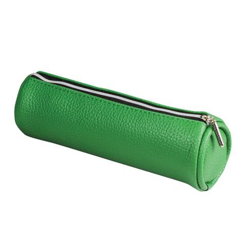 "Пенал-косметичка BRAUBERG под фактурную кожу, ""Экзотика"", зеленый, 20х6х6 см, 226737"