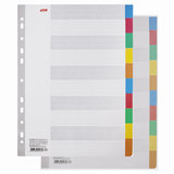 Разделитель картонный А4, 10 листов, цветовой/10 цветов, 225х297 мм, HATBER, 4AR 11004, М224816