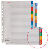 Разделитель картонный А4, 12 листов, Январь-Декабрь, 225х297 мм, HATBER, 4AR 11201, М224731