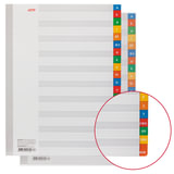 Разделители листов А4 (20 листов 297х225 мм) картонные, алфавитный А-Я, HATBER, 4AR_12005, М224809