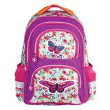"""Рюкзак BRAUBERG с EVA спинкой, для учениц начальной школы, """"Бабочка в цветах"""", 38х30х14 см, 226894"""
