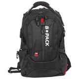 """Рюкзак B-PACK """"S-08"""" (БИ-ПАК) универсальный, с отделением для ноутбука, влагостойкий, черный, 50х32х17 см, 226955"""