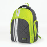 Рюкзак TIGER FAMILY (ТАЙГЕР) с ортопедической спинкой для средней школы, серый/зеленый, 39х31х20 см, TGRW-006A