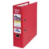Папка-регистратор ESSELTE, 80 мм, А4+, VIVIDA Plus, с двухсторонним покрытием из полипропилена, красная, 81183
