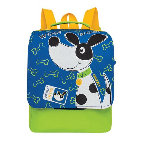 "Рюкзак GRIZZLY для дошкольников, ""Тузик"", 8 литров, 30х25х11 см, RS-891-2/1"