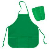 Фартук для труда и занятий творчеством ПИФАГОР с нарукавниками, с карманом, зеленый, 44х55 см, 227245