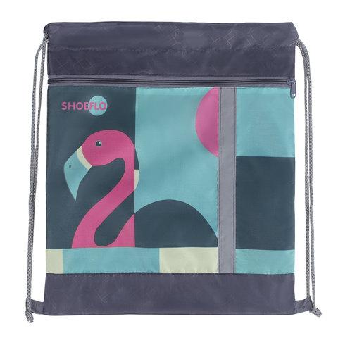 """Мешок для обуви, карман на молнии, сетка для вентиляции, светоотражающий, """"Фламинго"""", 46х36 см, СДС-711"""