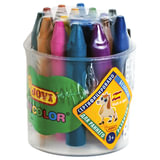 Восковые мелки утолщенные JOVI (Испания), 16 цветов, детские от 3 лет, пластиковый стакан, точилка, 980/16