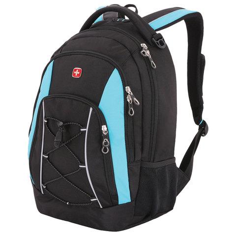 Рюкзак WENGER универсальный, черно-синий, светоотражающие элементы, 28 л, 33х19х45 см, 11862315-2
