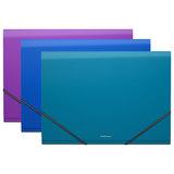 """Папка на резинках ERICH KRAUSE """"Glance Vivid"""", А4, 6 отделений, до 300 листов, 600 мкм, ассорти, 43117"""