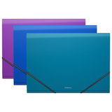 """Папка на резинках ERICH KRAUSE """"Glance Vivid"""", А4, 13 отделений, до 300 листов, 600 мкм, ассорти, 43129"""