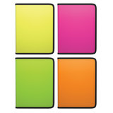 """Папка на молнии пластиковая ERICH KRAUSE """"Glance Neon"""", A4, цвет ассорти, 47080"""