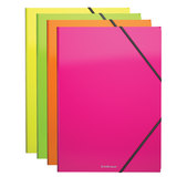 "Папка на резинках ERICH KRAUSE ""Glance Neon"", А4, до 300 листов, 400 мкм, ассорти, 43052"