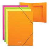 "Папка-короб на резинках ERICH KRAUSE ""Glance Neon"", А4, 30 мм, до 300 листов, 600 мкм, ассорти, 43056"