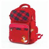 Рюкзак BRAUBERG с пеналом в комплекте, эрго-спинка, для девочек, Лиса, 42х29х14 см