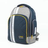 Рюкзак TIGER FAMILY (ТАЙГЕР) с ортопедической спинкой для учеников средней школы, черный/серый, 39х31х20 см, TGRW-008A