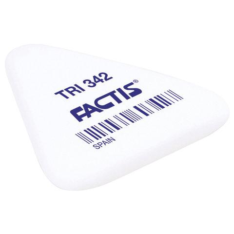 Ластик FACTIS TRI 342 (Испания), 49х45х6 мм, ассорти, треугольный, мягкий, PNFTRI342