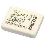 Ластик FACTIS 60 RC (Испания), 32х24х7 мм, белый, ассорти, прямоугольный, мягкий, синтетический каучук, CNF60RC