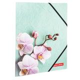"""Папка на резинках BRAUBERG """"FLOWER"""", А4, цветная печать, до 300 листов, 500 мкм, 228032"""