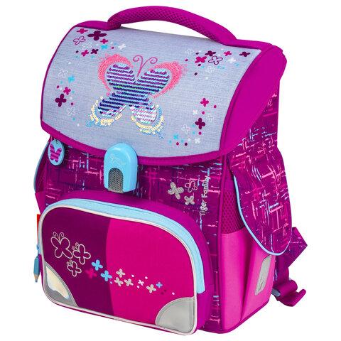 """Ранец TIGER FAMILY для начальной школы, Jolly, """"Playful Butterfly"""", 36х31х19 см, 228909, TGJL-036A"""