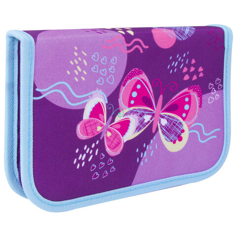 "Пенал TIGER FAMILY 1 отделение, ткань, ""Rhythmic Butterfly"", 20х14х4 см, 228956, TGCP-007C1E"
