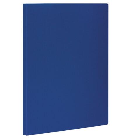 Папка с боковым металлическим прижимом STAFF, синяя, до 100 листов, 0,5 мм, 229232