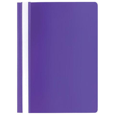 Скоросшиватель пластиковый STAFF, А4, 100/120 мкм, фиолетовый, 229237