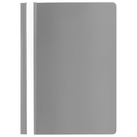 Скоросшиватель пластиковый STAFF, А4, 100/120 мкм, серый, 229238