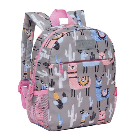 "Рюкзак GRIZZLY для дошкольников, ""Ламы в пустыне"", 28x22x10 см, RK-077-9/1"
