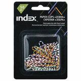 Скрепки INDEX, 25 мм, цветные, 50 шт., блистер с европодвесом, IPC2025ZEB