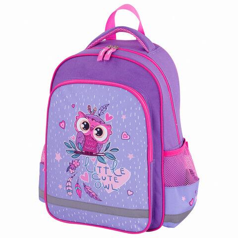 Рюкзак ПИФАГОР SCHOOL для начальной школы, Owlet, 38х28х14 см, 229991