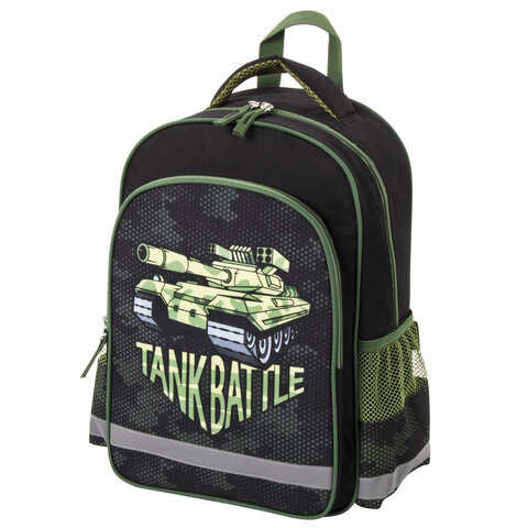 Рюкзак ПИФАГОР SCHOOL для начальной школы, Tank, 38х28х14 см, 229995