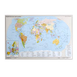 """Коврик-подкладка настольный для письма, с картой мира, 380х590 мм, """"ДПС"""", 2129.М"""