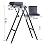 """Подставка для проектора и ноутбука PROJECTA """"Gigant"""", 10 кг, (115х90х40 см), 2 полки на разной выс., 11200036"""